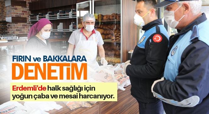 """Erdemli'de Fırın ve Bakkallarda """"Ambalajlı Ekmek"""" Denetimi"""