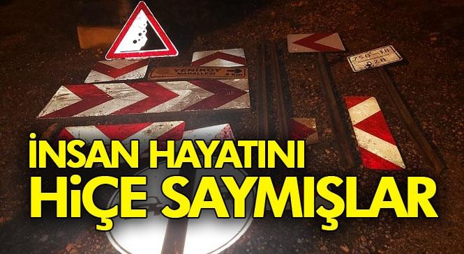 Sürücüler İçin Hayati Önem Taşıyan Levhaları Çalmışlar! Mersin Tarsus'ta Yollardaki Yön Levhalarını Çalan 2 Kişi Yakalandı