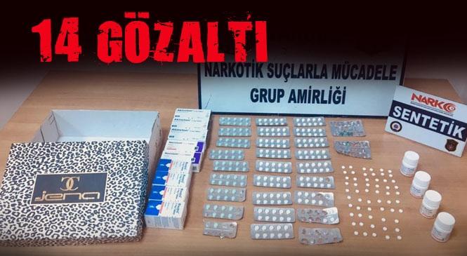 """Mersin Tarsus'taki Uyuşturucu Operasyonunda: Gözaltına Alınan 14 Şüpheli Hakkında """"Uyuşturucu Veya Uyarıcı Madde İmal ve Ticareti"""" Suçlarından İşlem Yapıldı"""
