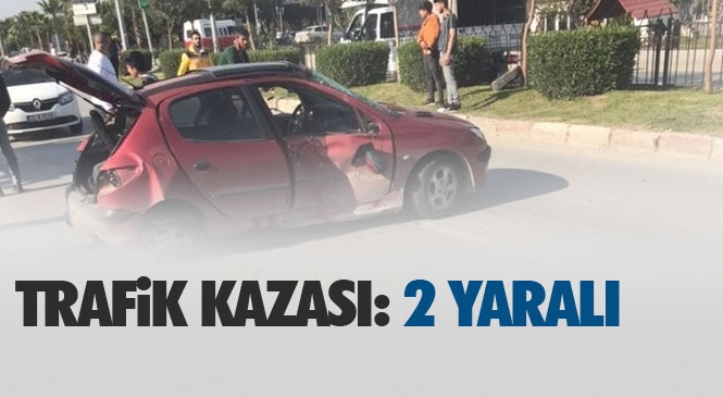 Mersin Tarsus Gazipaşa Mahallesinde Meydana Gelen Trafik Kazasında 2 Kişi Yaralandı
