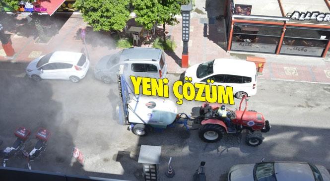 Mersin Yenişehir'de Covid-19 (Koronavirüs)'a Karşı Yeni Çözüm! Sokak, Caddeler Holderle İlaçlanıyor
