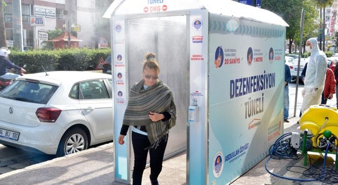 Yenişehir Belediyesi Dezenfeksiyon Tüneli Kurdu! Dezenfeksiyon Tüneli Yenişehirlilerin Hizmetinde