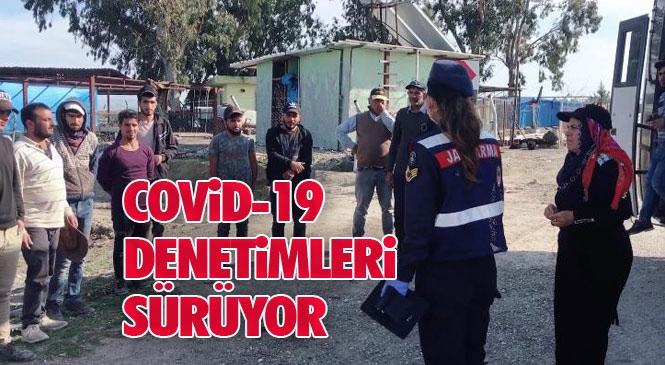 Mersin Tarsus'ta İlçe Jandarma Komutanlığına Bağlı Ekipler Koronavirüs Denetimlerini Sürdürüyor