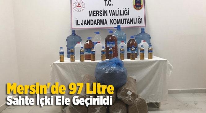 Mersin'in Silifke İlçesinde Jandarmanın Düzenlediği Operasyonda 97 Litre Sahte İçki Ele Geçirildi