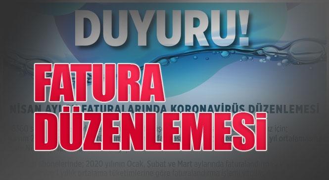 MESKİ'den Nisan Ayı Su Faturalarında Koronavirüs Düzenlemesi