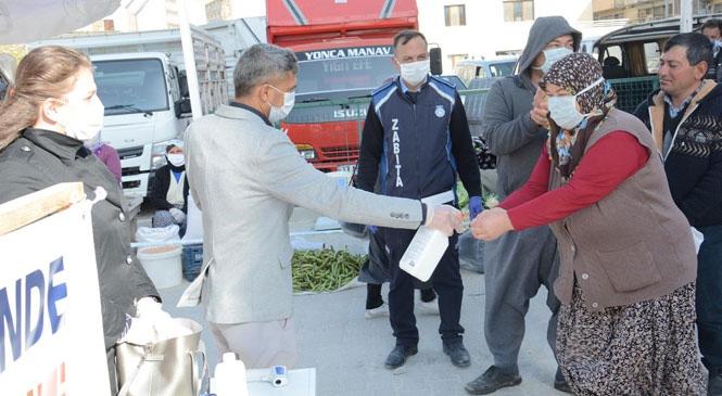 Gülnar Belediyesinden Koronavirüse Karşı Topyekün Mücadele