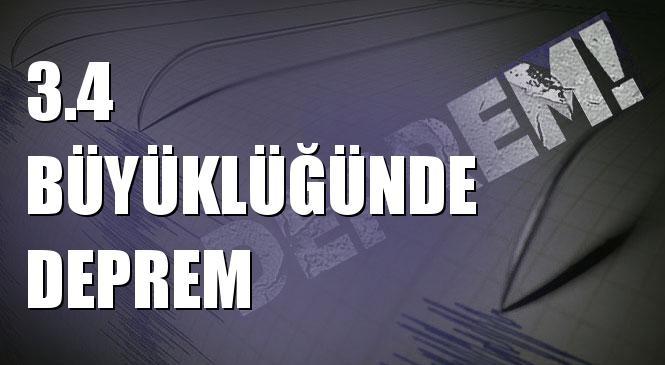 Merkez Üssü Uzunhüseyın - Kale (Malatya) Olan 3.4 Büyüklüğünde Deprem Meydana Geldi