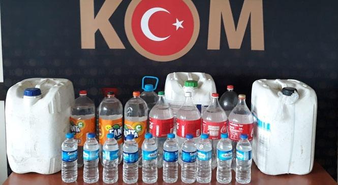 Mersin Tarsus'ta 88 Litre Boğma Olarak Tabir Edilen Sahte İçki Ele Geçirildi