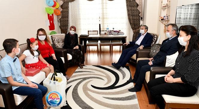 Vali Ali İhsan Su ve Eşi Zeliha Su, 23 Nisan'da Şehit Ailesini Ziyaret Etti
