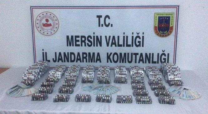 Tarsus'ta Jandarma, Ticari Taksi İle Adana'dan Mersin'e Uyuşturucu Madde Getiren Şahısları Yakaladı