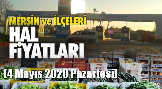 Mersin Hal Müdürlüğü Fiyat Listesi (4 Mayıs 2020 Pazartesi)! Mersin Hal Yaş Sebze ve Meyve Hal Fiyatları