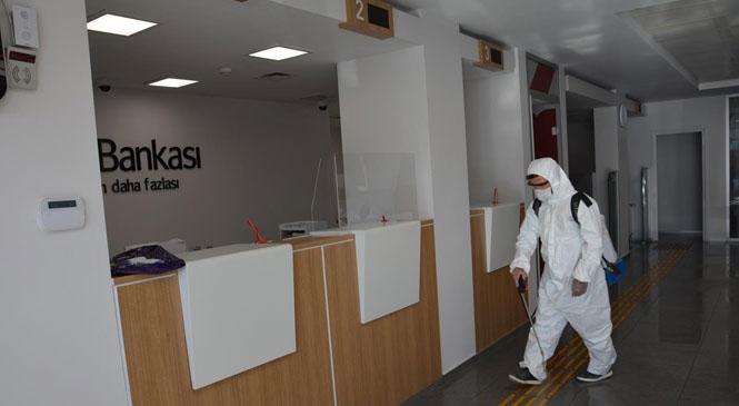 Gülnar Belediyesi Koronavirüs Hastalığına Karşı Tedbiri Elden Bırakmıyor