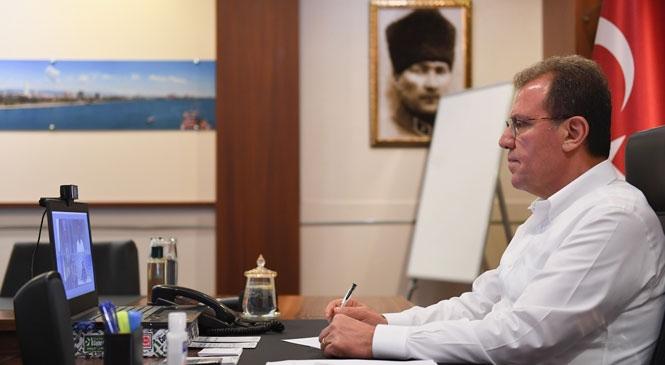 Başkan Seçer, Kardeş Şehir Tuben-kama Belediye Başkanı Metşin İle Video Konferans Yoluyla Görüştü