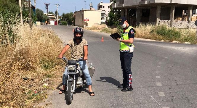 Mersin'de Jandarma'dan Artan Motosiklet Kazaları Nedeniyle Şok Trafik Uygulaması