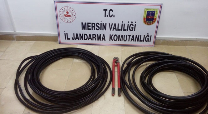 Mersin Tarsus Yenice'de Baz İstasyonunun Kablolarını Çalan Hırsızlar Yakalandı