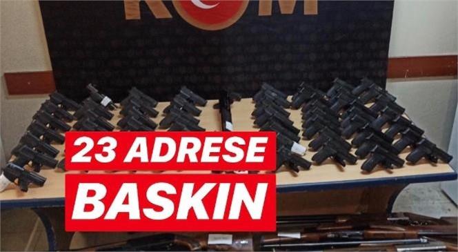 Mersin Tarsus'ta Silah Ticareti Suçu Nedeniyle 17 Şahıs İçin 23 Adrese Baskın