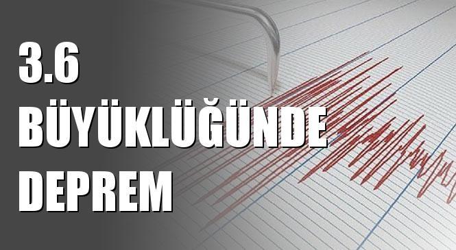 Merkez Üssü Ege Denizi Olan 3.6 Büyüklüğünde Deprem Meydana Geldi