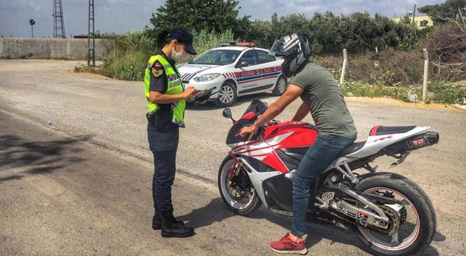 Mersin Jandarmasından Motosiklet ve Alkol Uygulaması