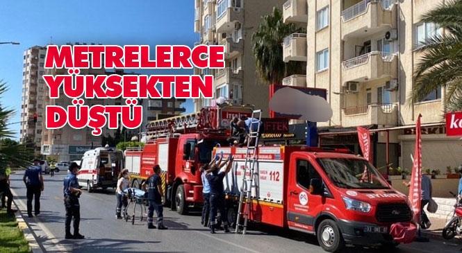 Mersin Yenişehir Barbaros Mahallesi Göçmen Kavşağı Civarında Yüksekten Düşen Yaşlı Adam Hayatını Kaybetti