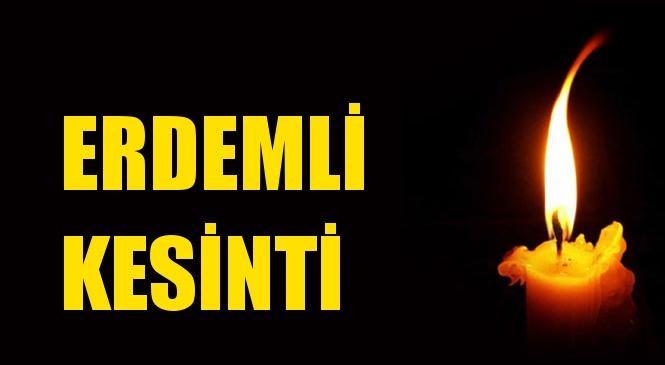 Erdemli Elektrik Kesintisi 25 Haziran Perşembe