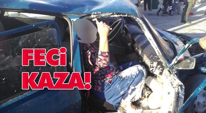 Mersin'in Mut İlçesinde Otomobil İle Kamyonetin Çarpışması Sonucu Meydana Gelen Trafik Kazasında 1'i Ağır 4 Kişi Yaralandı