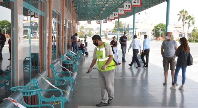 Hareketlilik Yaşanan TAŞTİ'de Büyükşehir'den Sürekli Dezenfekte Çalışması