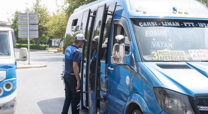 Zabıta Ekipleri, Yeni Normalleşme Sürecinde de Toplu Taşıma Araçlarını Denetliyor! Araçlarda Temizlik, Hijyen ve Maske Kullanımı Konusunda Denetim Yapıldı