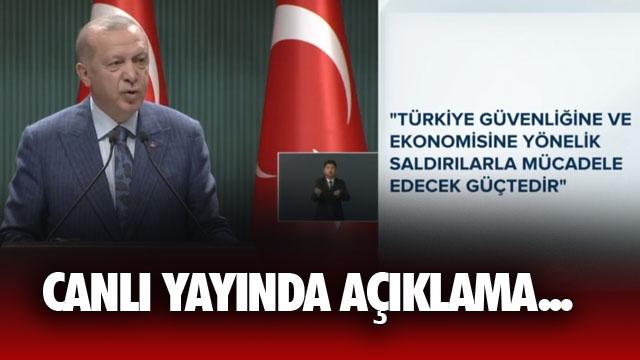Cumhurbaşkanı Erdoğan'dan, Canlı Yayında Açıklamalar