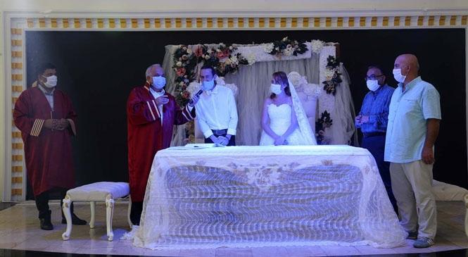 Mersin Erdemli Belediyesi'nden Kontrollü Düğün