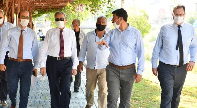 Mersin Valisi Ali İhsan Su, Kent Merkezinden Geçen Müftü Deresi'nde İncelemelerde Bulundu