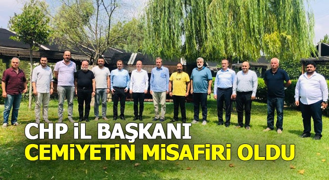Tarsus Gazeteciler Cemiyeti, CHP Mersin İl Başkanı ve Beraberindeki Heyeti Misafir Etti