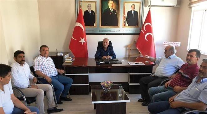 Başkan Ünüvar'dan MHP İlçe Başkanı Celal Kadim'e Hayırlı Olsun Ziyareti