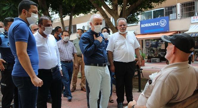 """Nusratiye ve Mahmudiye Mahallelerini Ziyaret Etti, Vatandaş ve Esnafı Dinledi: """"Başkan Gültak Halkın Arasında"""""""
