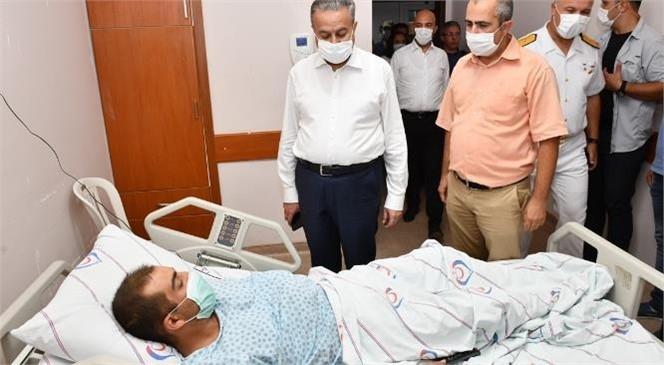 Vali Su, Kazada Yaralanan Askerlerimizi Hastanede Ziyaret Etti