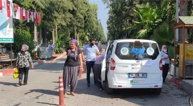 Büyükşehir, Tarsus'taki Mezarlıklarda Vatandaşların Sorunsuz Şekilde Ziyaretlerini Yapması İçin Tüm Tedbirleri Aldı