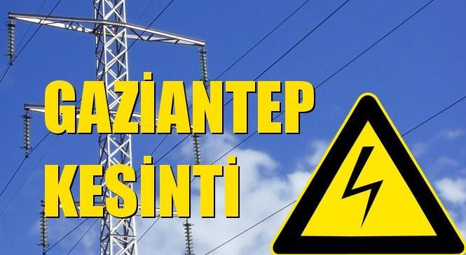 Gaziantep Elektrik Kesintisi 09 Ağustos Pazar