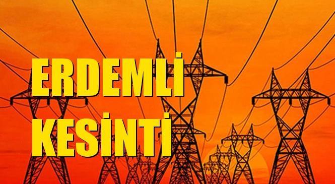 Erdemli Elektrik Kesintisi 10 Ağustos Pazartesi