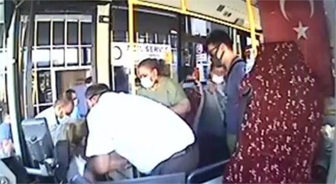 Anamur'da Belediye Otobüsünde Fenalaşan Kadın Yolcu, Şoför Tarafından Hastaneye Yetiştirildi