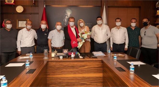 Toplu İş Sözleşmesi İmzalayan İşçilerden Başkan Seçer'e Teşekkür Ziyareti