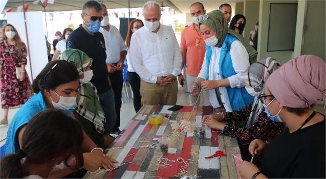 Akdeniz Belediye Başkanı Gültak, Yaz Kampındaki Şehit Ailelerini Ziyaret Etti