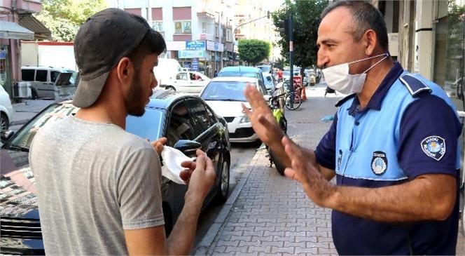 Akdeniz Zabıtası, Koronavirüs Denetiminde Maske Takmayan Esnaf ve Vatandaşlar Uyarıldı