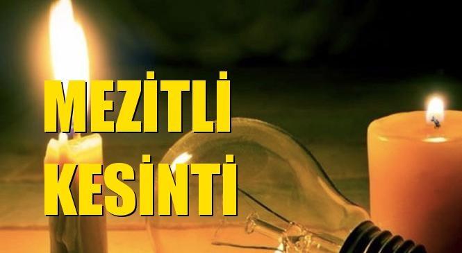 Mezitli Elektrik Kesintisi 20 Eylül Pazar
