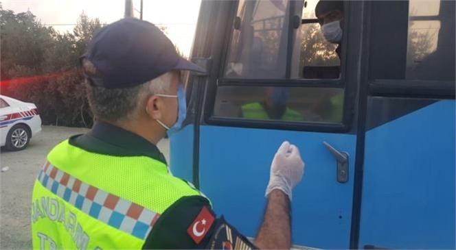 Mersin Tarsus'ta Jandarma Ekipleri Covid-19 Denetimlerini Sıklaştırdı