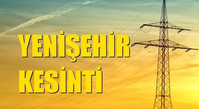 Yenişehir Elektrik Kesintisi 26 Eylül Cumartesi
