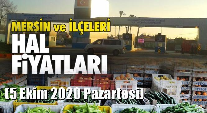 Pazar'daki Fiyatları Karşılaştırabilirsiniz! Mersin Hal Müdürlüğü Fiyat Listesi (5 Ekim 2020 Pazartesi)! Mersin Hal Yaş Sebze ve Meyve Hal Fiyatları