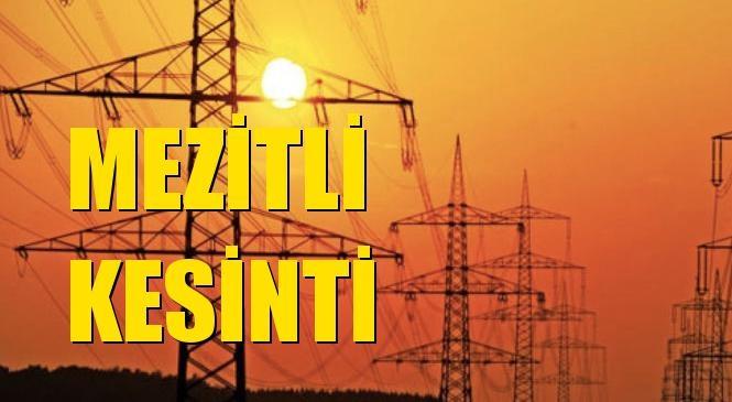 Mezitli Elektrik Kesintisi 10 Ekim Cumartesi