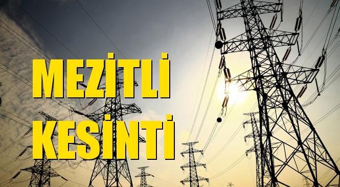 Mezitli Elektrik Kesintisi 13 Ekim Salı