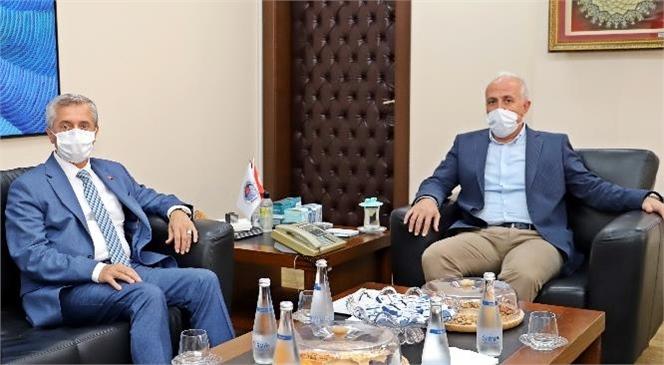 Şahinbey Belediye Başkanı Tahmazoğlu; Başkan Gültak'ı Ziyaret Etti