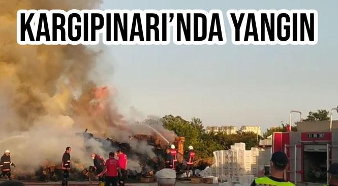 Mersin'in Erdemli İlçesine Bağlı Kargıpınarı Mahallesinde Henüz Nedeni Bilinmeyen Bir Şekilde Çıkan Yangın Çevreye Sıçramadan Söndürüldü