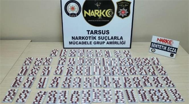 Tarsus Polisi, Bin 72 Adet Sentetik Uyuşturucu Hap Ele Geçirdi